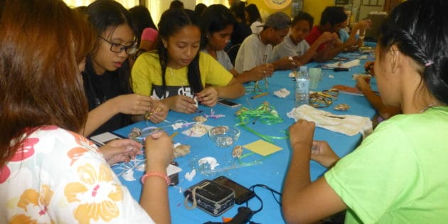 Youth Camp Craft Making