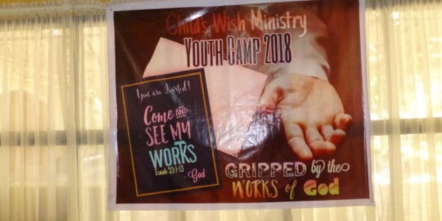 Youth Camp Theme- Gripped By The Works of GOD